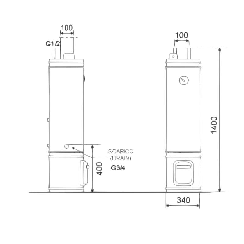 Scaldabagno legna elettrico 80 litri - Valvola di sicurezza scaldabagno elettrico ...
